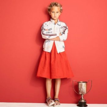 TOMMY HILFIGER Girls Surprise Track Jacket and Red Skirt Spring Summer 2018
