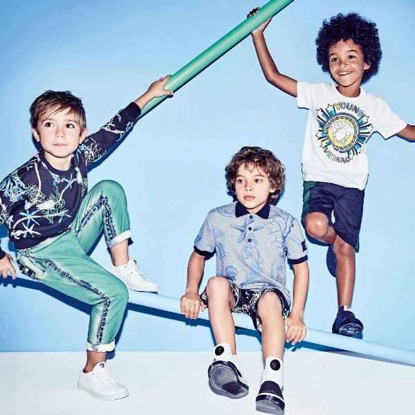 YOUNG VERSACE Boys White Medusa T-Shirt Spring Summer 2018