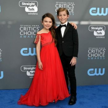 Brooklynn Prince Jacob Tremblay Armani Junior Special Occasion Suit Critics Choice Award 2018