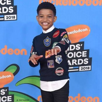 LONNIE CHAVIS KIDS CHOICE AWARDS 2018 DSQUARED2 Navy Blue Badges Sweatshirt