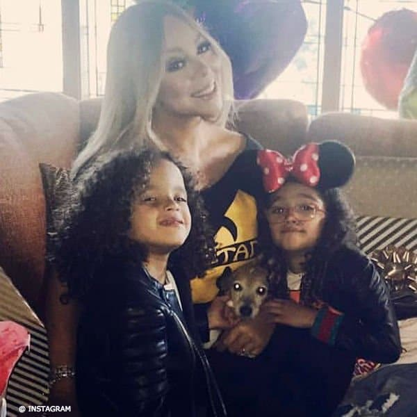 Mariah Carey Twins Morocco Monroe GUCCI Leather Jackets March 2018