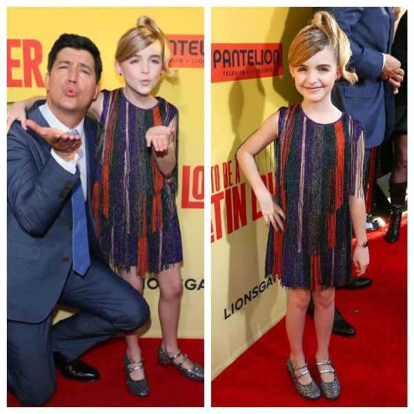 Mckenna Grace Missoni Girl Multicolor Fringe Dress How To Be A Latin Lover premiere