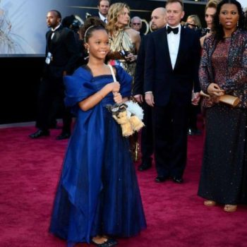 Quvenzhane Wallis Armani Junior Dress Academy Awards Ceremony