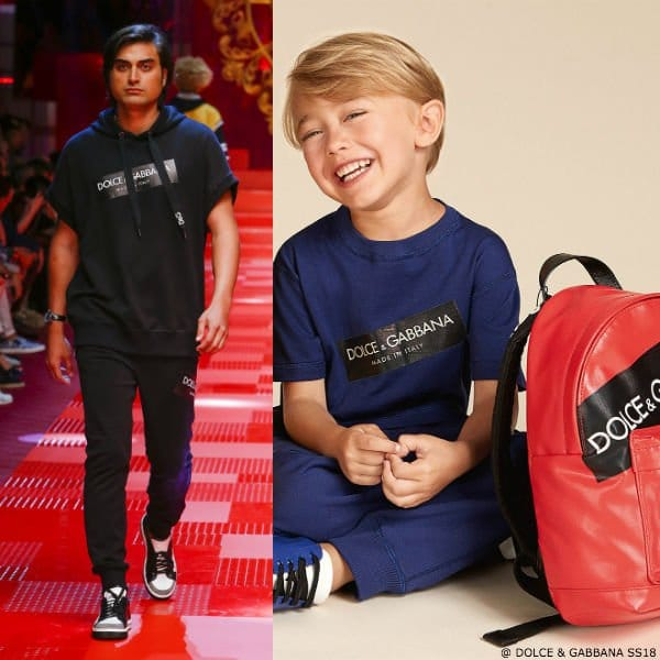 DOLCE & GABBANA BOYS MINI ME BLUE LOGO SHIRT & SWEATPANTS