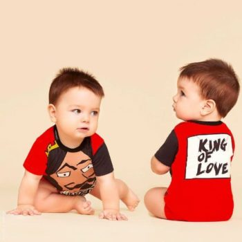 DOLCE & GABBANA Baby Boy King Of Hearts Baby Shortie