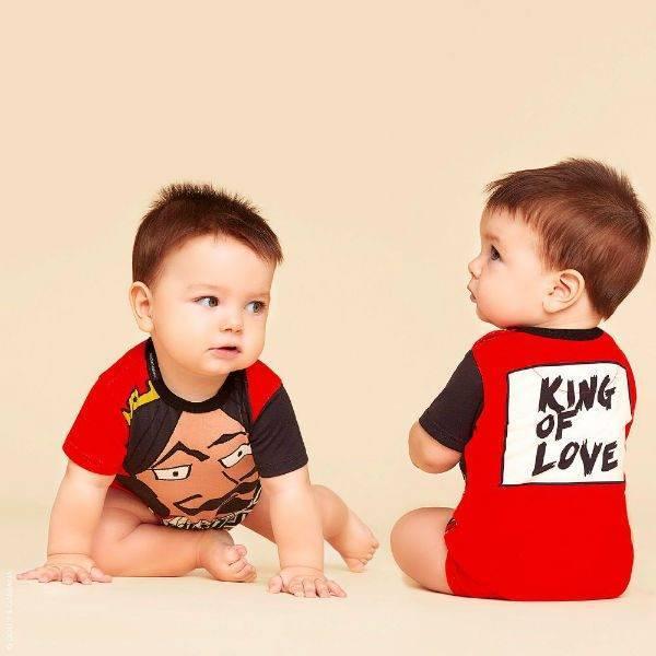 DOLCE & GABBANA Baby Boy King Of Hearts Baby Shortie