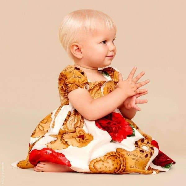 DOLCE & GABBANA Baby Girls Biscotti Rose Dress Set