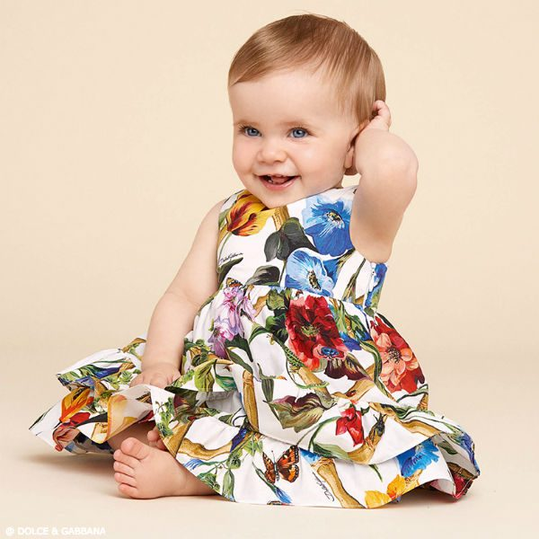 DOLCE & GABBANA Baby Girls Fiori Rampicanti Dress