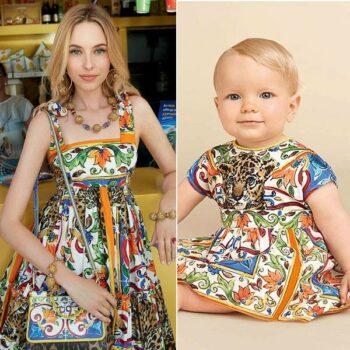 DOLCE & GABBANA Baby Girl Mondello Majolica Tiger Mini Me Dress