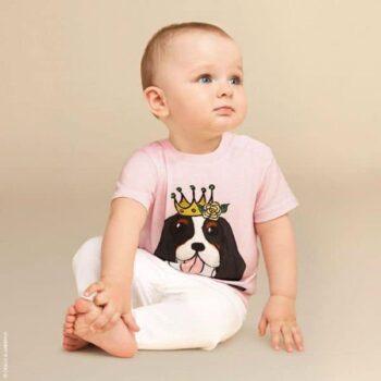 DOLCE & GABBANA Baby Girls Pink Year of The Dog T-Shirt