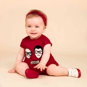 DOLCE & GABBANA Baby Red DG Family Heart & Love Shortie