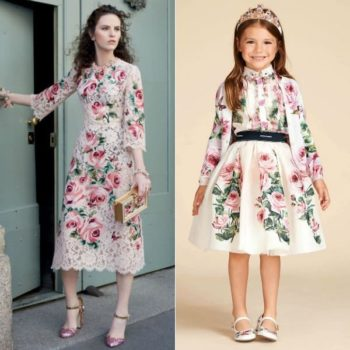DOLCE & GABBANA Girls Mini Me Love Christmas Rose Chiffon Blouse & Organza Skirt