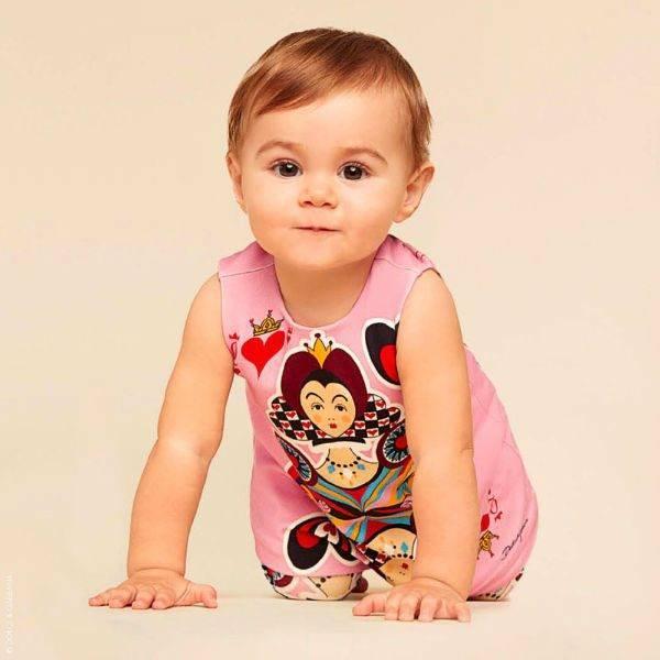DOLCE & GABBANA Baby Girl Queen of Hearts Dress Set