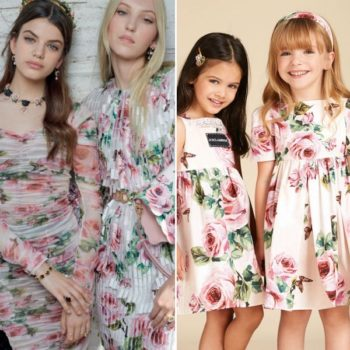 Dolce & Gabbana Girl Mini Me Love Christmas Flower Dresses Spring Summer 2018