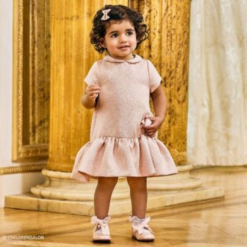 FENDI Baby Girls Pink Glitter Dress