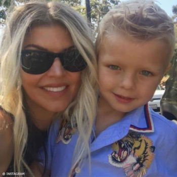 Fergie & Axl Duhamel GUCCI Boys Mini Me Tiger Shirt 4th Birthday