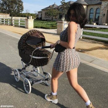 Kylie Jenner Stormi Webster Fendi Stroller Instagram Apri 12 2108