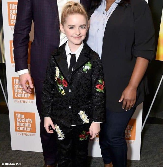 McKenna Grace Love Made Love Girls Black Floral Suit Jacket & Pants