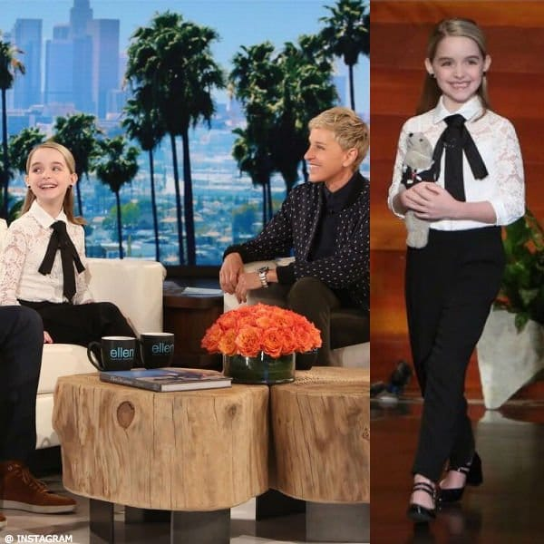 McKenna Grace Monnalisa Lace Bouse & Pants The Elen Show