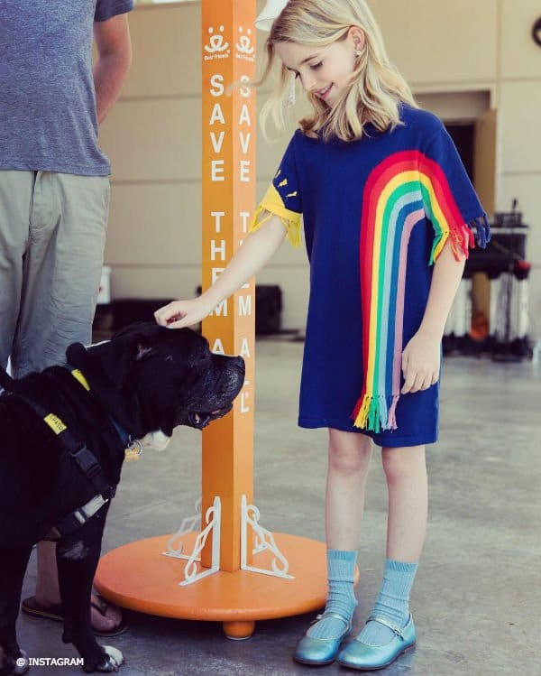 McKenna Grace Stella McCartney Rainbow Meg Dress Best Friends Animal Society