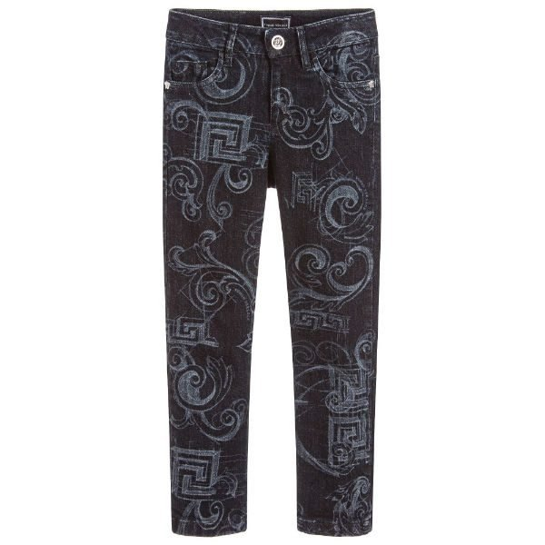 YOUNG VERSACE Straight-Fit Baroque Jeans