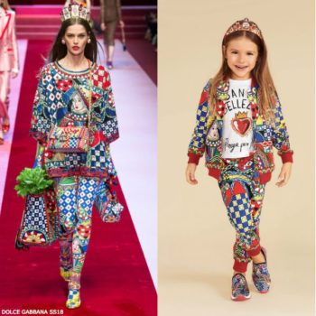 DOLCE & GABBANA Girls Mini Me Queen of Hearts Sweatshirt Leggings