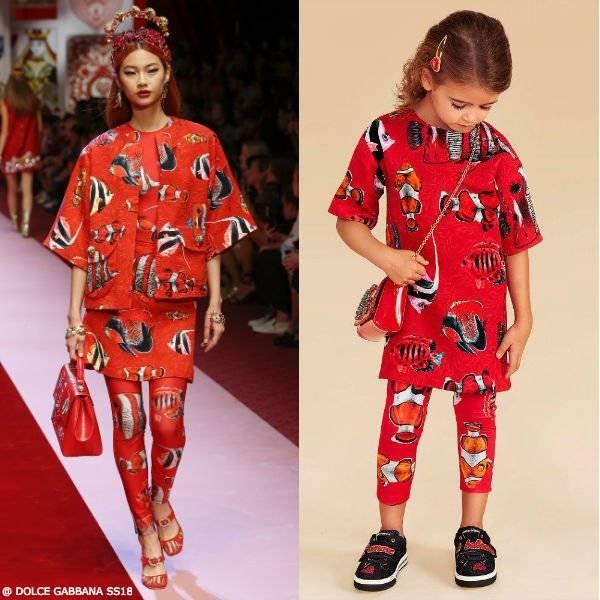 DOLCE & GABBANA GIRLS MINI ME RED BROCADE DRESS