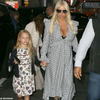 JESSICA SIMPSON & DAUGHTER MAXWELL - GUCCI Girls Mini Me Butterflies & Flowers Print Dress