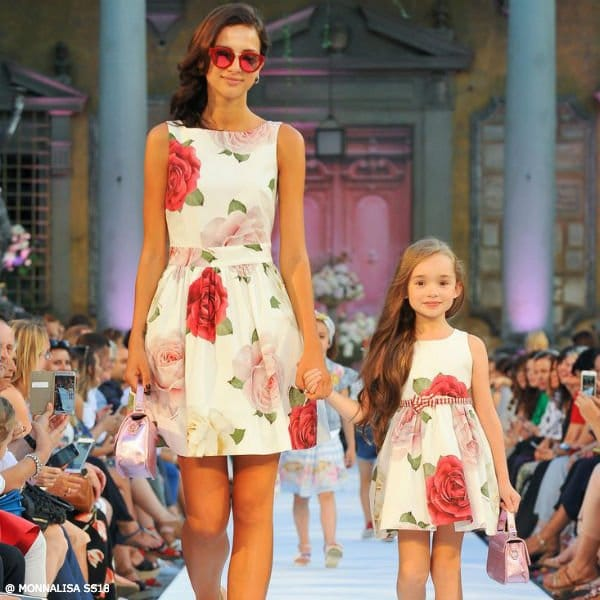 MONNALISA JAIKOO MOMMY & ME GIRLS ROSES DRESS