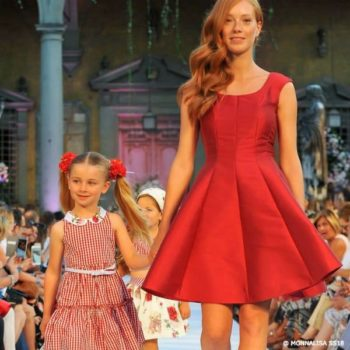 MONNALISA Mommy & Me Red Gingham Dress SS18 Fashion Show