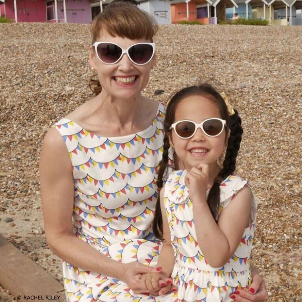 RACHEL RILEY Girls Mini-Me Bunting Print Dress