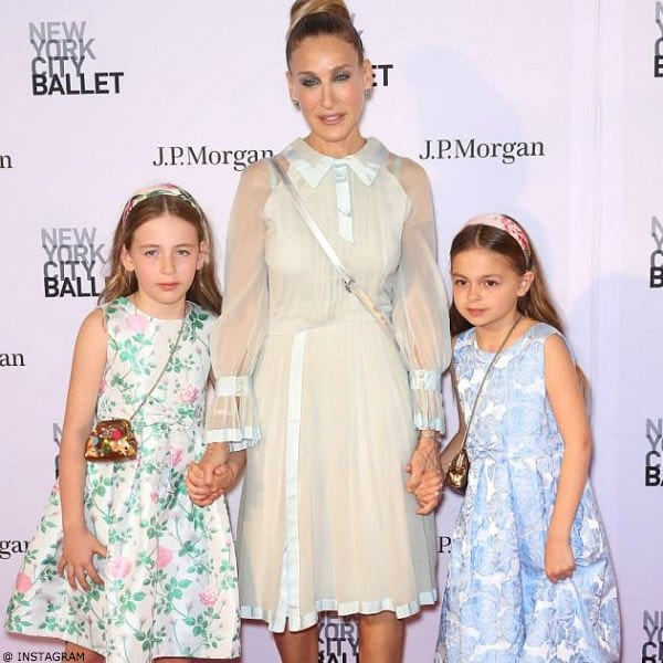 Sarah Jessica Parker Twin Daughter Tabitha and Marion Rachel Riley Dresses New York City Ballet's Spring Gala