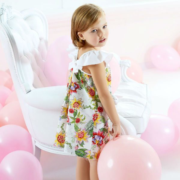 ALVIERO MARTINI White Floral Print Dress