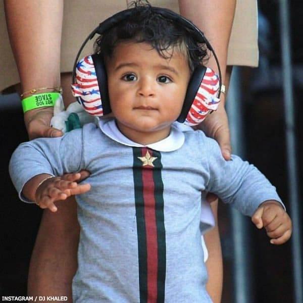 Asahd Khaled GUCCI Luxury Grey Babysuit Gift Set