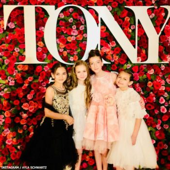 Ayla Schwartz Frozen Tony Awards 2018 JUNONA Girls Pink Crystal Roses Dress
