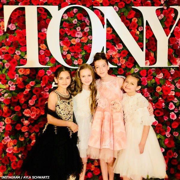 Ayla Schwartz Frozen Tony Awards 2018 JUNONA Girls Pink Crystal Roses Dress