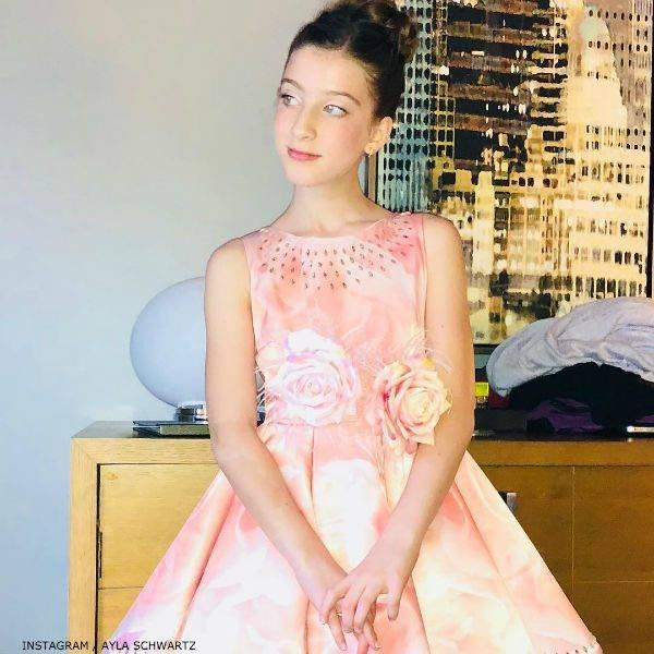 Ayla Schwartz JUNONA Girls Pink Crystal Roses Dress Frozen Tony Awards 2018