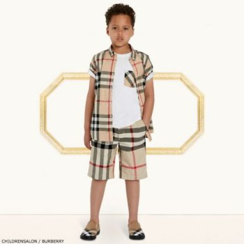 BURBERRY Boys Short Sleeve Fred Shirt & shorts