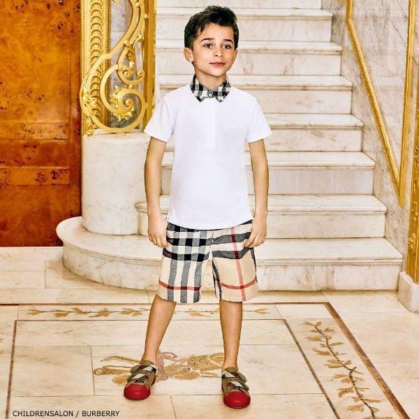 BURBERRY Boys WILLIAM Cotton Polo Shirt & Shorts