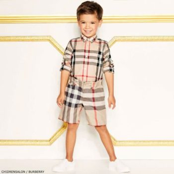 BURBERRY Check Mini Fred Shirt and Shorts