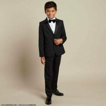 DOLCE & GABBANA Boys Black 2 Piece Dinner Suit