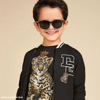 DOLCE & GABBANA Boys Mini Me Black Zip-Up Jacket