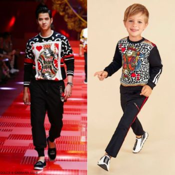 DOLCE & GABBANA Boys Mini Me KING OF HEARTS Sweatshirt