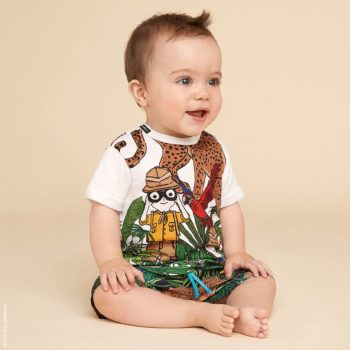 DOLCE & GABBANA DG FAMILY SAFARI T-Shirt and Baby Swimsuit