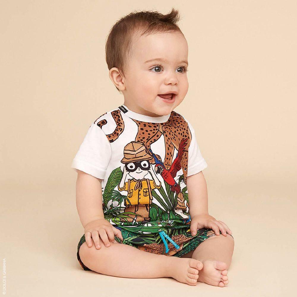 DOLCE & GABBANA DG FAMILY SAFARI T-Shirt and Baby Swimsuit
