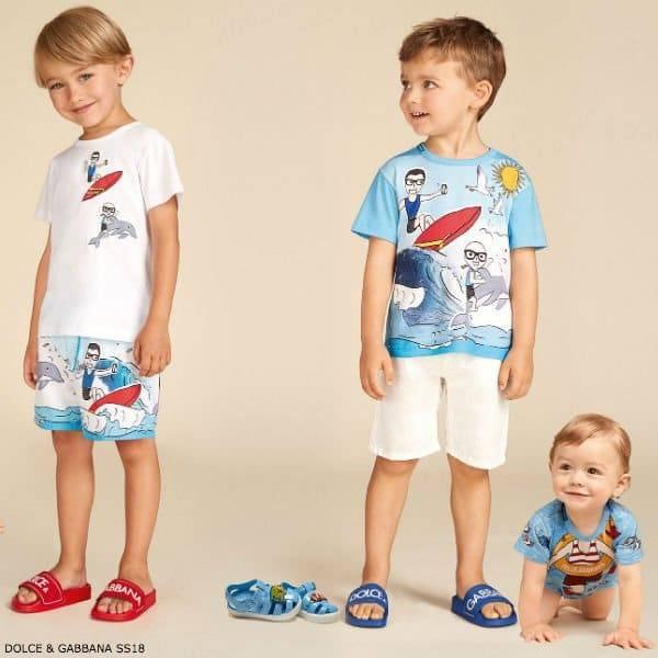 Dolce and Gabbana Boys Beach Fun Summer T-shirt Shorts