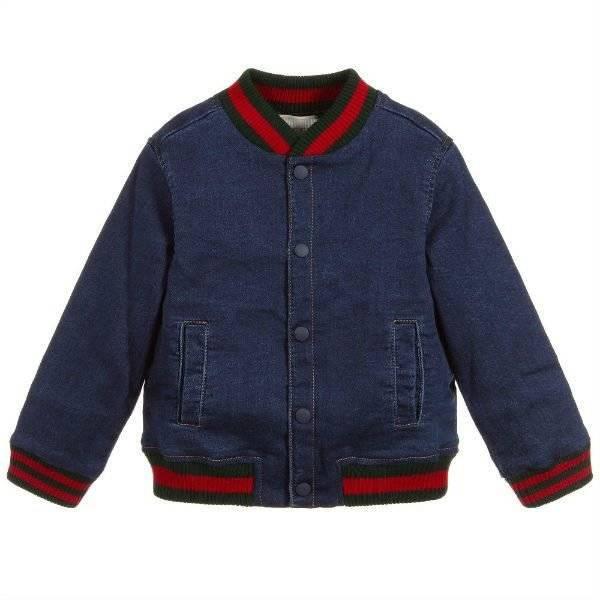 GUCCI Baby Boys Blue Denim Jacket
