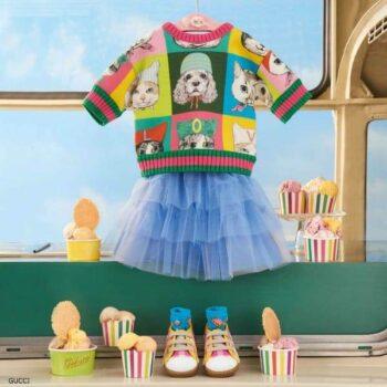 GUCCI Baby Girls Pets Print Sweatshirt by Yuko Higuchi