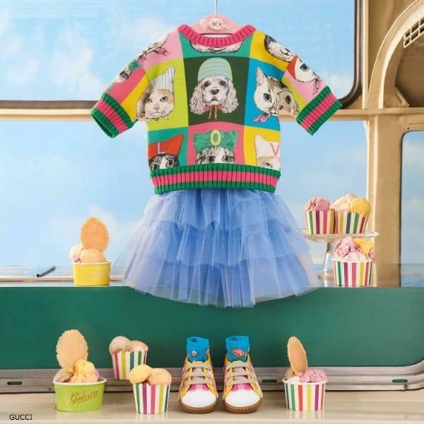 GUCCI BABY GIRLS MINI ME PETS PRINT SWEATSHIRT BY YUKO HIGUCHI