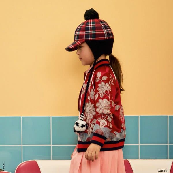 GUCCI Girls Mini Me Red Satin Bomber Jacket 2018